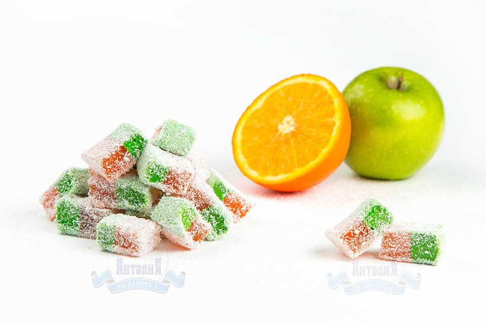 Лукум нуга апельсин с яблоком 2 кг